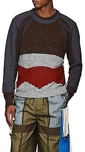 Craig Green Men's Hybrid Mixed-Stitch Sweater - Black