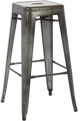 """Office Star OSP Designs by Products Bristow 30"""" Antique Metal Barstool"""