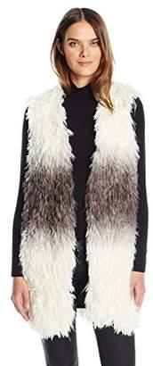 Guess Women's Sleeveless Shiah Faux Fur Vest $98 thestylecure.com