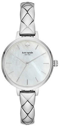 Kate Spade Metro Stainless Steel Half Bangle Bracelet Watch