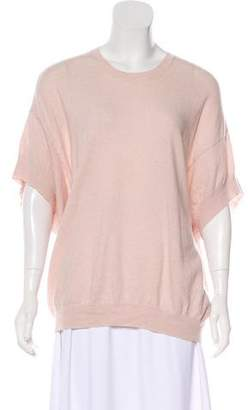 Theory Wool-Blend Short Sleeve Sweater