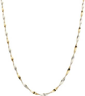 Primavera 24k Gold Over Silver Sparkle Chain Necklace