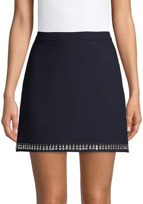 Miu Miu Embellished Wool Mini Skirt