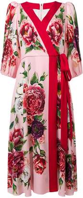 Dolce & Gabbana floral wrap dress