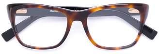 Max Mara square frame contrast glasses