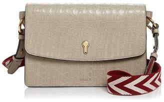 Bally Celestine Medium Embossed Leather Shoulder Bag