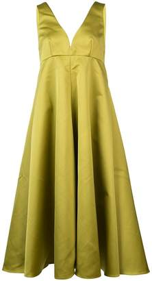 Rochas long flared dress