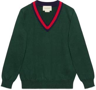 Children's cotton sweater with Web $255 thestylecure.com