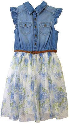 Arizona Short Sleeve Cap Sleeve Tutu Dress - Big Kid Girls