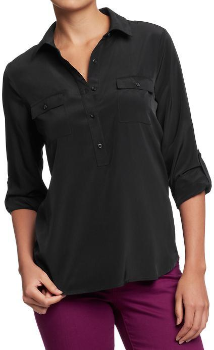 Old Navy Women's Roll-Cuff Blouses
