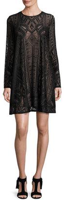 BCBGMAXAZRIA Natly Lace Shift Dress, Black $198 thestylecure.com