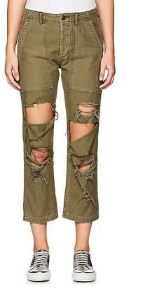 R 13 Women's Bowie Distressed Cotton Utility Pants