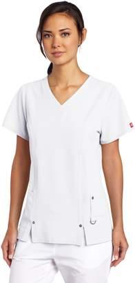 Dickies Scrubs Women's Xtreme Stretch Junior Fit V-Neck Shirt