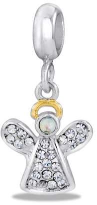 DaVinci Bead Dangle Angel CZ - Jewelry Bracelet Memories Beads DB28-6-DAV