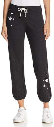 Monrow Embroidered Star Vintage Sweatpants