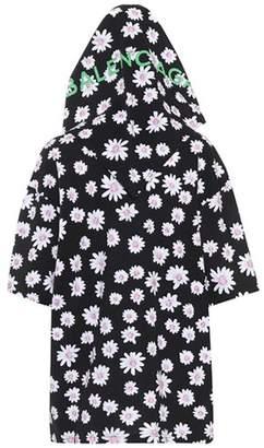 Balenciaga Printed cotton hoodie