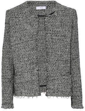 IRO Vivien Ring-Embellished Cotton-Blend Tweed Jacket