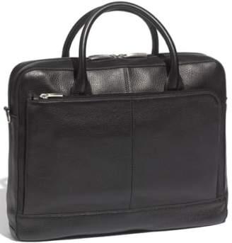 Bosca Slim Leather Briefcase