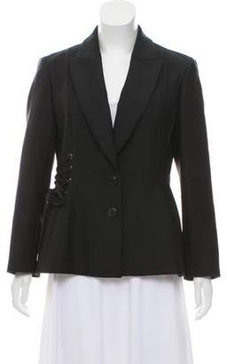 Christian Dior Lace-Up Virgin Wool Blazer