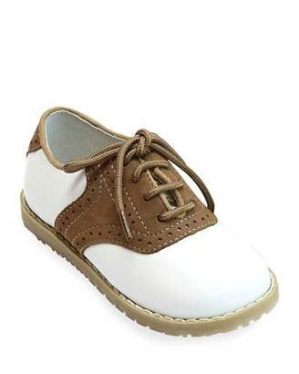 L'Amour Shoes Luke Two-Tone Leather Saddle Shoes, Baby/Toddler/Kids