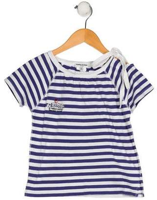 Sonia Rykiel Girls' Striped Short Sleeve Top
