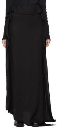 Ann Demeulemeester Black Side Tie Skirt
