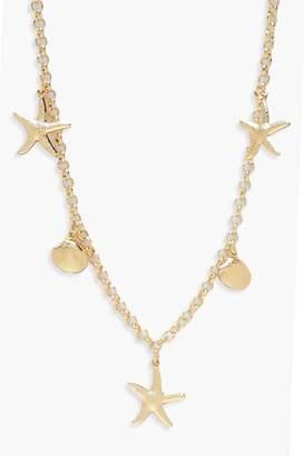 boohoo Seashell Charm Necklace