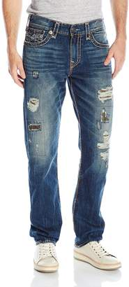 True Religion Men's Super T Geno Relaxed Slim with Flap Jean