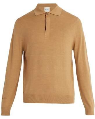 Paul Smith - Fine Knit Wool Polo Shirt - Mens - Beige