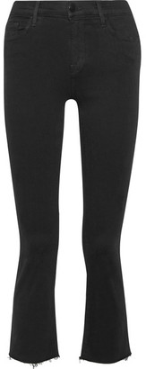 J Brand - Selena Cropped Mid-rise Bootcut Jeans - Black $220 thestylecure.com