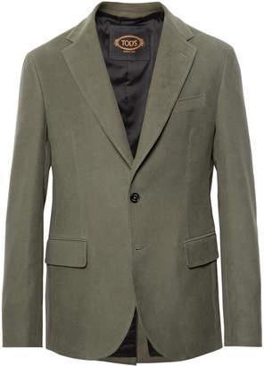 Tod's Green Cotton-Moleskin Suit Jacket
