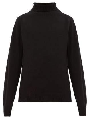 Margaret Howell Ribbed Roll Neck Merino Blend Sweater - Mens - Black