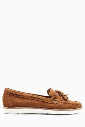 Next Womens Blush Leather Moccasins