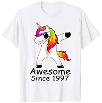 Awesome 1997 Shirt 21st Birthday Gift Unicorn Dabbing Outfit