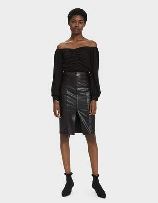 Stelen Andrea Faux Leather Pencil Skirt