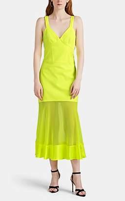 Prabal Gurung Women's Maghu Mixed-Media Maxi Dress - Neon Yellow