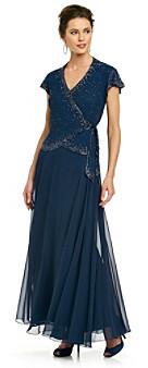 J Kara Long Mock Flair Dress