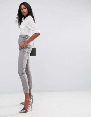 Asos Design High Waist Corset Detail Cigarette Trousers