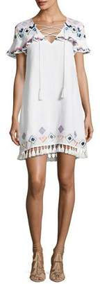 Red Carter Marina Embroidered Coverup Swim Dress, White