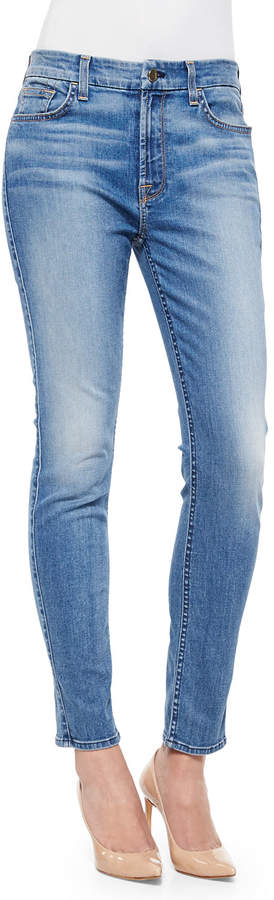 Jen7 By 7 For All Mankind Skinny Laguna Jeans, Light Blue