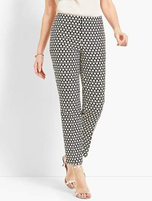 Talbots Jacquard Ankle Pant - Butterfly