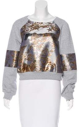 Philipp Plein Metallic Long Sleeve Sweatshirt