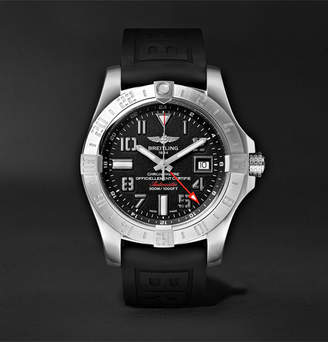 Breitling Avenger Ii Gmt Automatic 43mm Steel And Rubber Watch