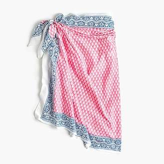 J.Crew SZ Blockprintsu0026trade; for sarong-scarf