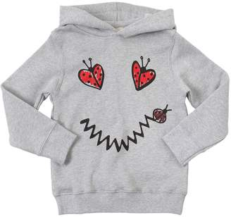 Stella McCartney Ladybugs Print Cotton Sweatshirt Hoodie