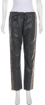 Les Chiffoniers Leather Mid-Rise Pants