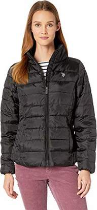 U.S. Polo Assn. Women's Puffer Jacket with Cinched Waist