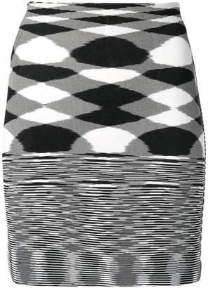 Missoni woven patterned skirt
