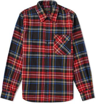 Beams 1 Pocket Check Overshirt