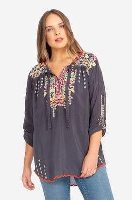 Johnny Was Dragonfly Blouse-Plus Size